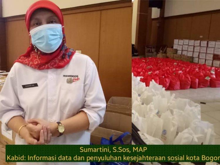 Terdampak Covid level empat Dinsos kota Bogor kembali gencar salurkan  bantuan bersama Komunitas lainnya