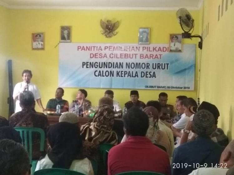 Gelar Rapat Terbuka Penetapan  Calon Kepala Desa Cilebut Barat di Aula  Kantor Desa Ciebut Barat