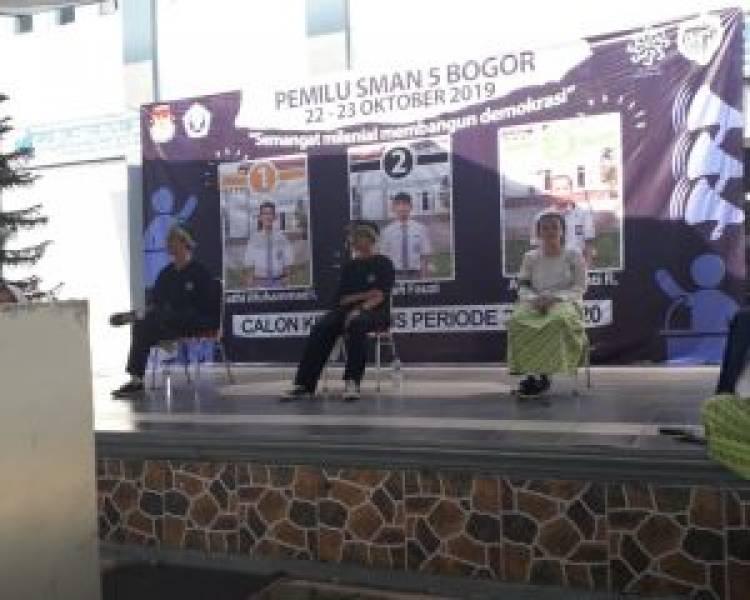 Dua hari pemilihan OSIS SMAN 5  Kota Bogor berlangsung Sukses