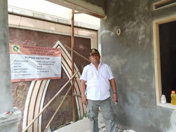 Ketua LPM, Yusuo Pantau kinerja Pembangunan posyandu Resident 1